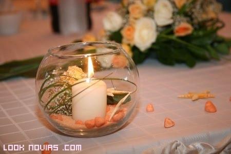centro de velas para bodas