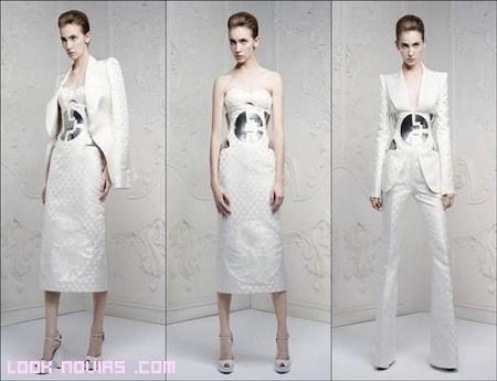 Pantalones blancos para novia