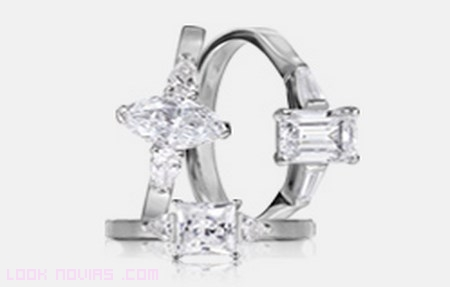 anillos en platino