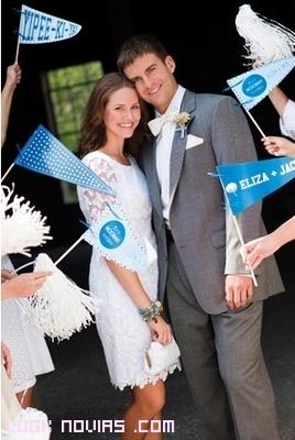 Banderines customizados para bodas