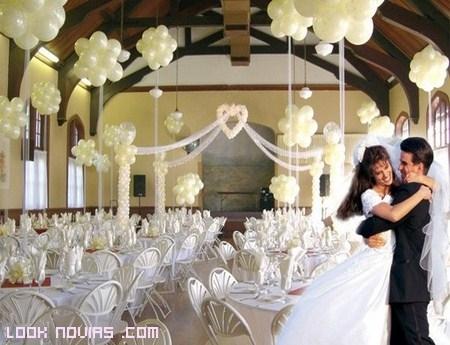 Decoración de bodas con globos