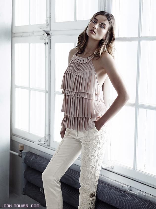 Blusas escote halter de moda