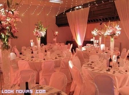 Decoración para bodas modernas
