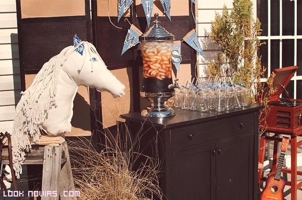 decoración en marrón para bodas