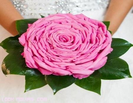 ramos de novia en color rosa