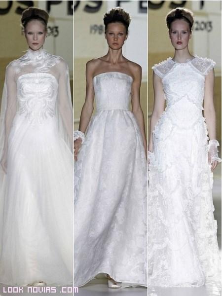 Tipos de escotes para novias
