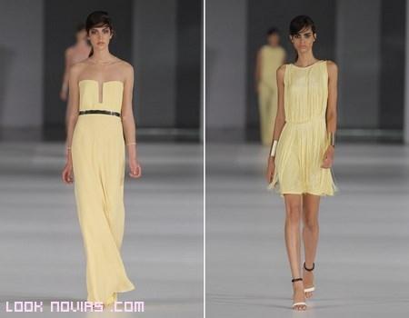 Vestidos amarillos para bodas