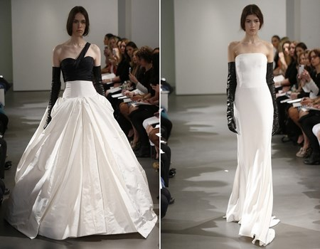 Vestidos de novia bicolor