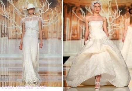 Sombreros para novias románticas