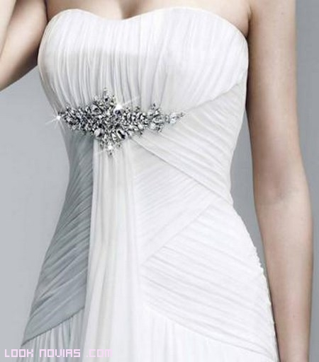 vestidos de novia drapeados