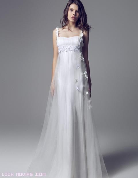 vestidos de corte imperio para novias