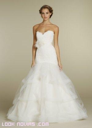 vestidos de novia con volantes