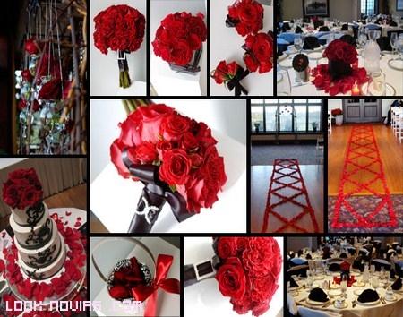 ramos de novia en color rojo