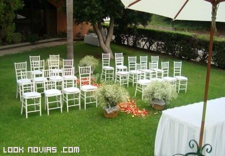 Decoración elegante para boda