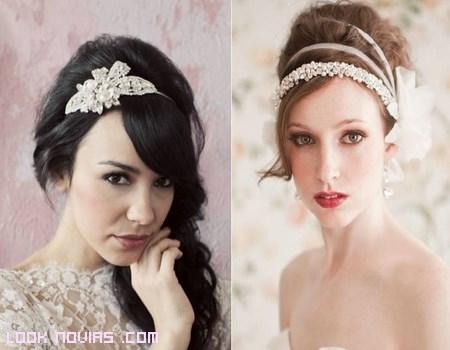 Diademas con perlas para bodas