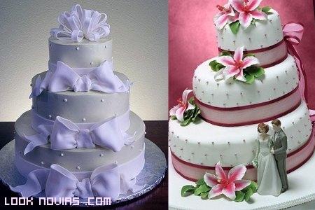 Dos tartas de color
