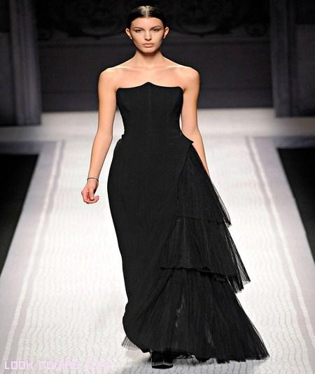 vestidos de noche asimétricos