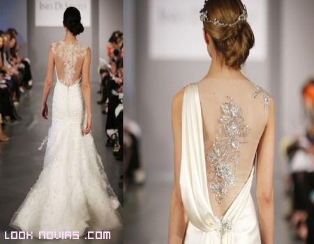 Escotes en la espalda para novia