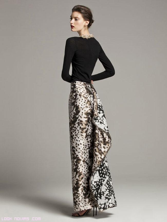faldas de raso estampadas