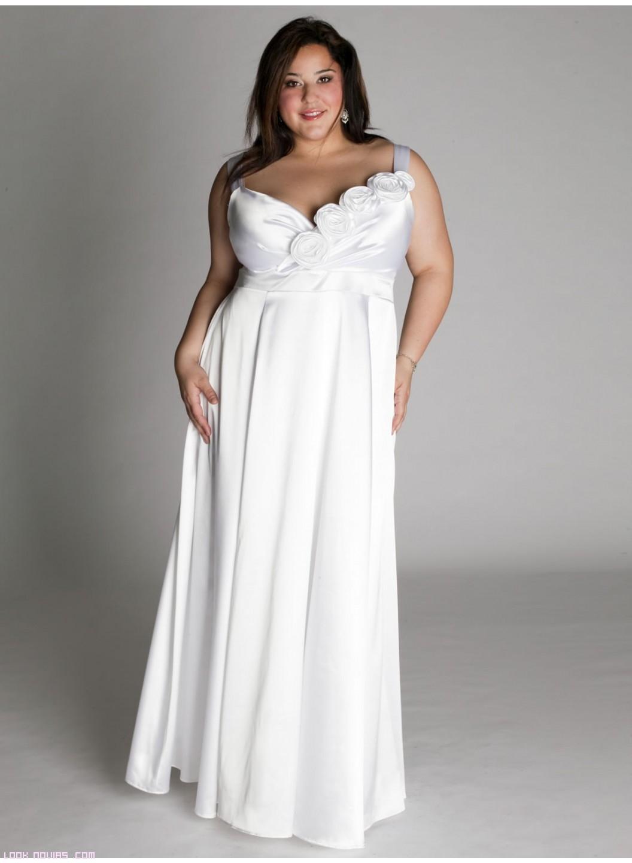 vestidos elegantes para novias gorditas