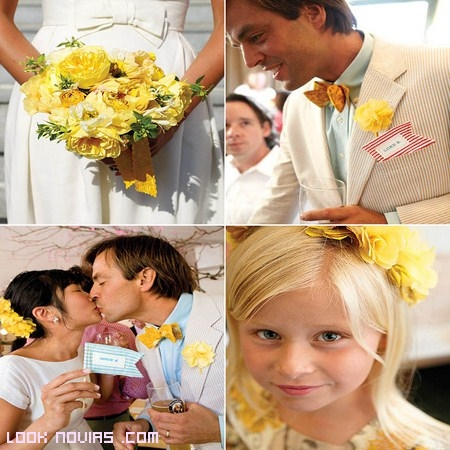 Flores amarillas para novias y damas