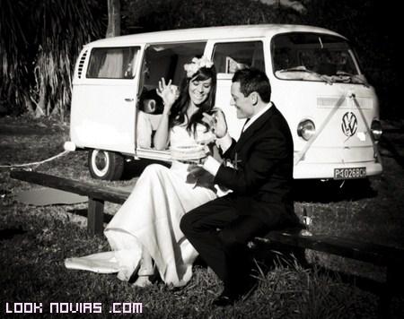 Transportes originales para boda