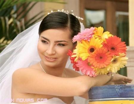 ramos de novia con gerberas