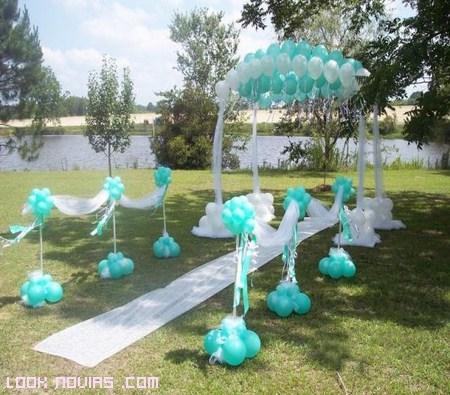 Decoración exterior para bodas