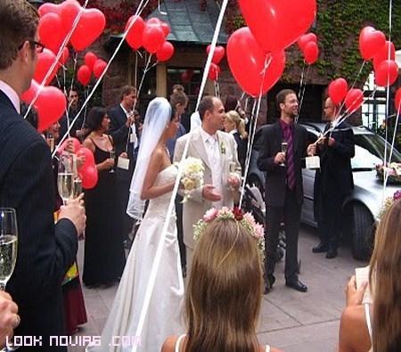 Globos para la salida de la ceremonia