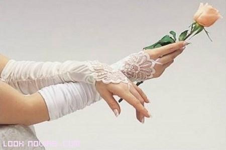 novias clásicas con guantes