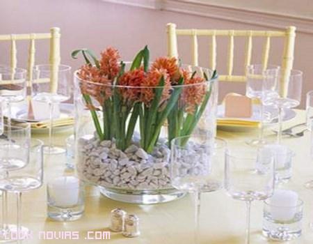 jarrones para decorar mesas