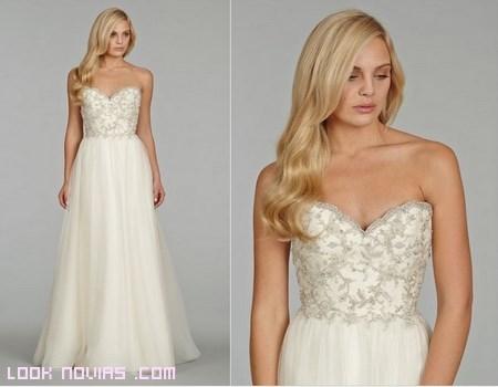 Vestidos de novia con corpiños