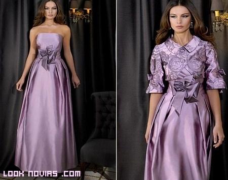 vestidos de fiesta en malva