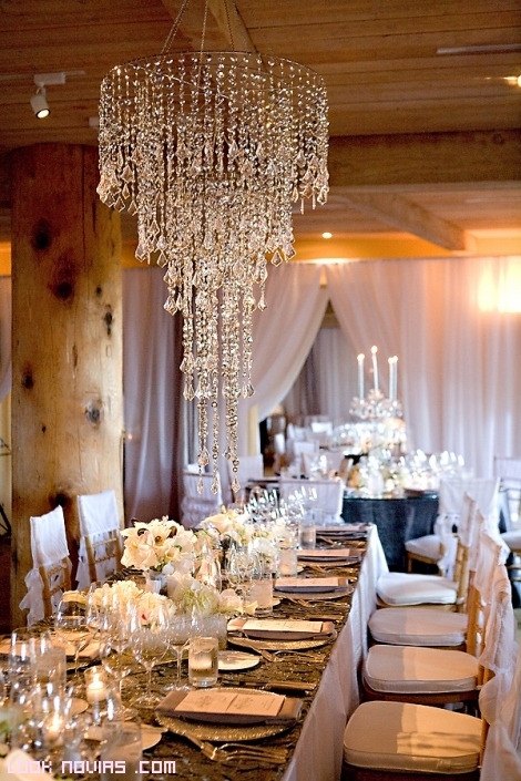 ideas para decorar las bodas con lámparas
