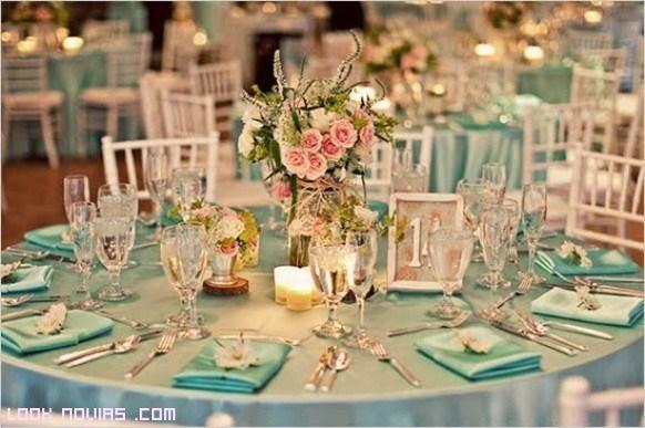 Mesas de bodas elegantes