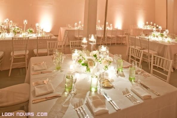 decoración de mesas con velas