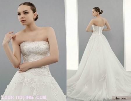 Vestido de novia con corpiño