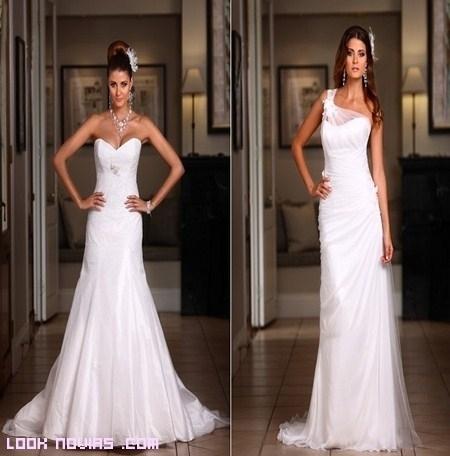 Novias elegantes en blanco