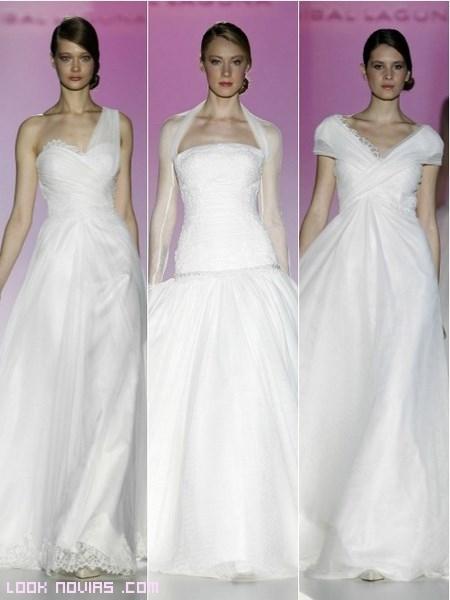 Escotes asimétricos para novias