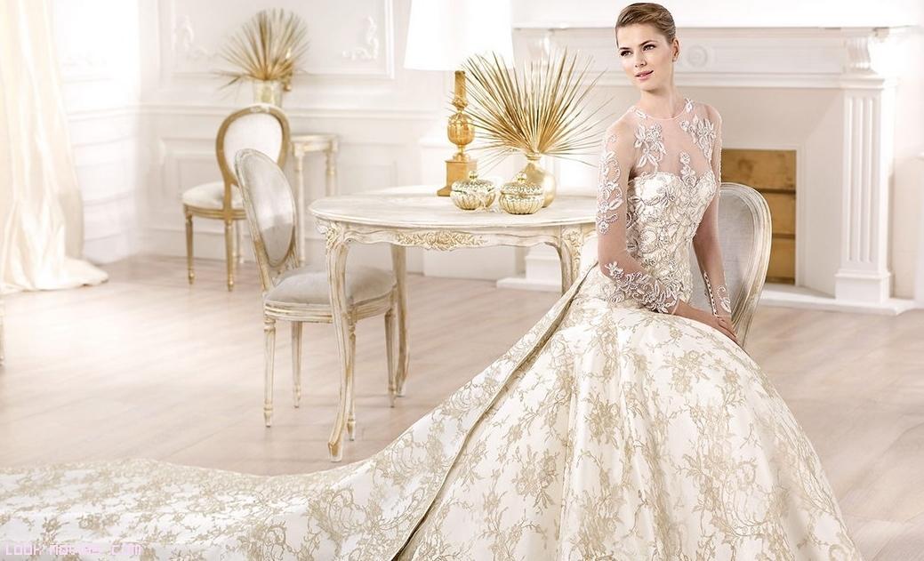 vestidos bordados en color blanco
