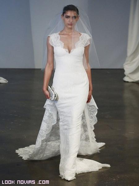 vestidos de novia con cola desmontable