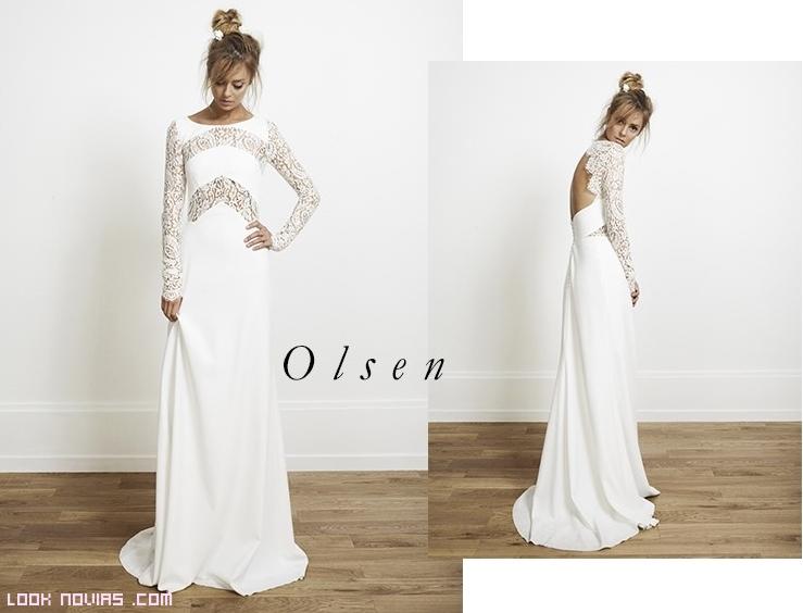 vestidos de novia sin volúmenes