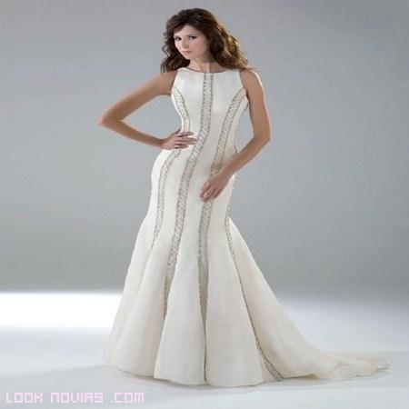 vestidos de novia en color modernos