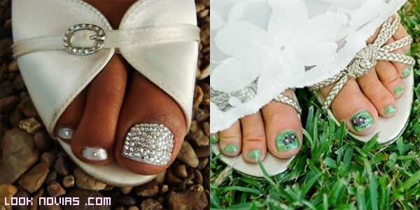 pedicura con brillantes