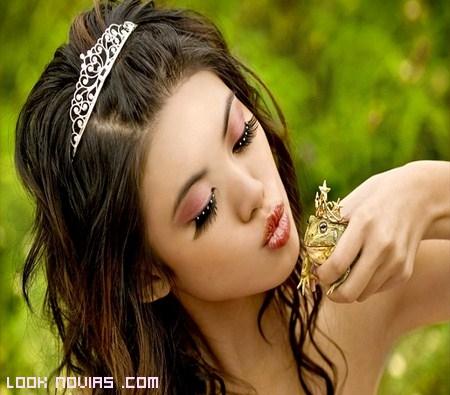 Pestañas de fantasía para novias
