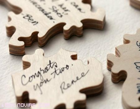 Piezas de puzzle para bodas