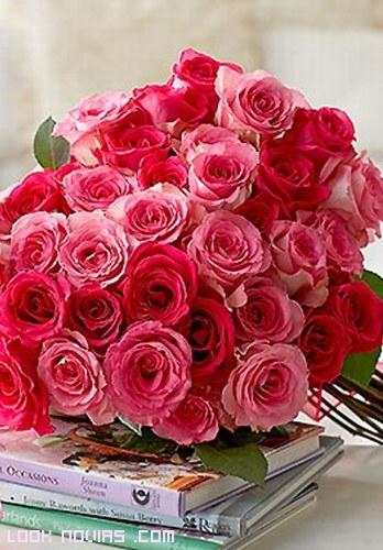 rosas de colores para ramos de novia