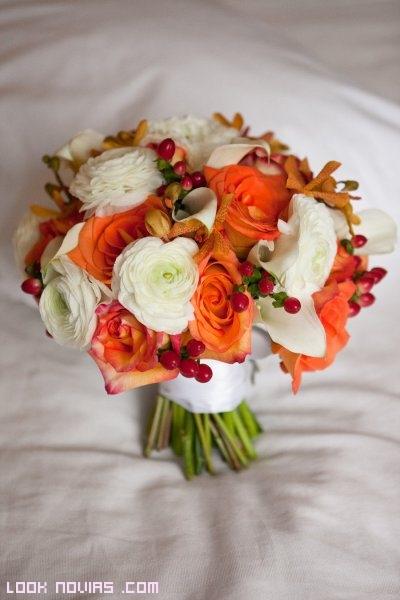 rosas de color naranja