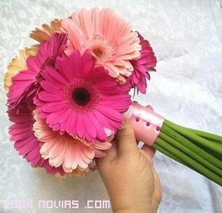 Ramos románticos en color rosa
