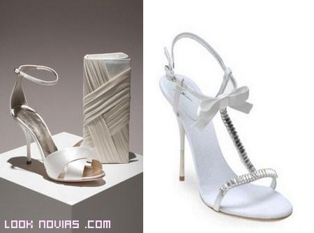 Sandalias de novia
